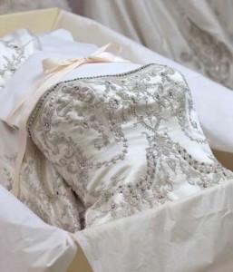 wedding dress in box